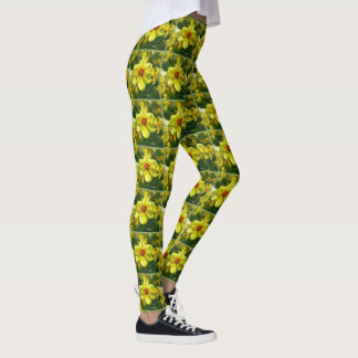 Yellow orange Daffodils 02.1g Leggings