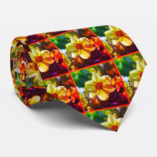Yellow orange Daffodils 02.2.2o Tie