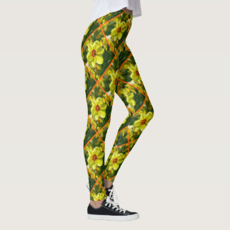 Yellow orange Daffodils 02.2.3o Leggings