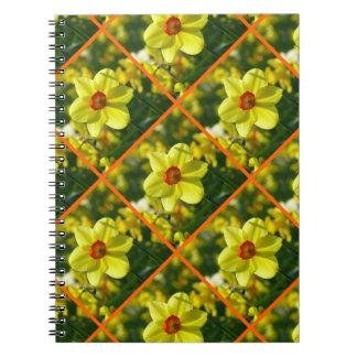 Yellow orange Daffodils 02.2.3o Spiral Notebook