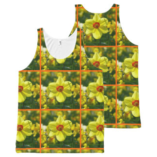 Yellow orange Daffodils 02.2o All-Over-Print Tank Top