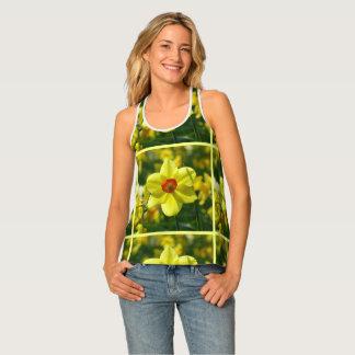 Yellow orange Daffodils 02.2y Tank Top
