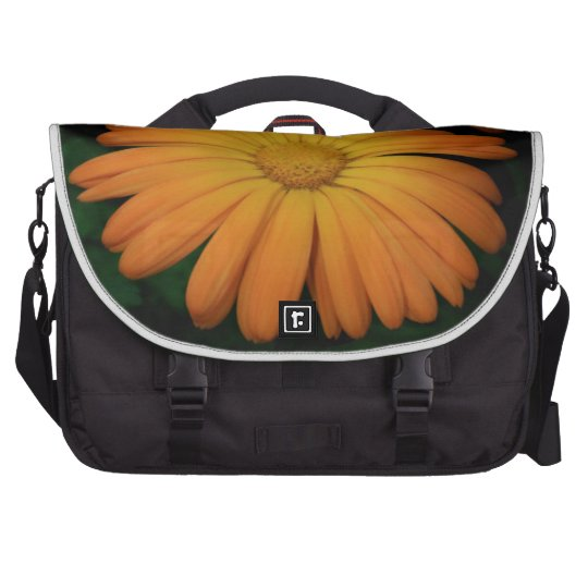 Yellow orange daisy flower bags for laptop