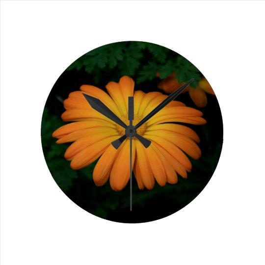 Yellow orange daisy flower clocks
