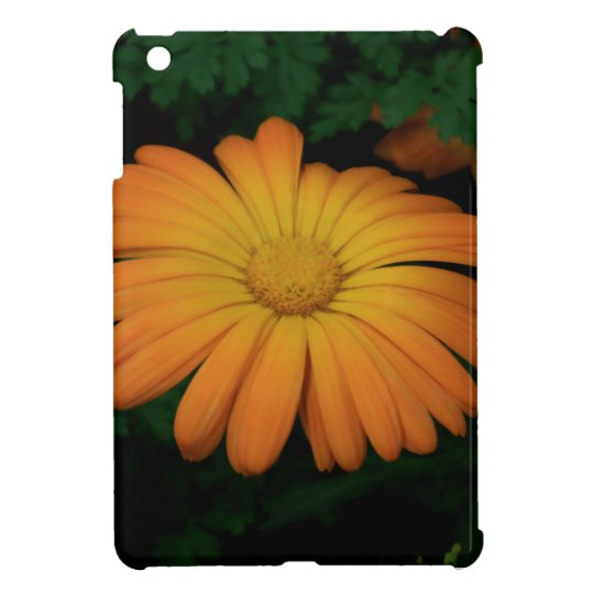 Yellow orange daisy flower cover for the iPad mini