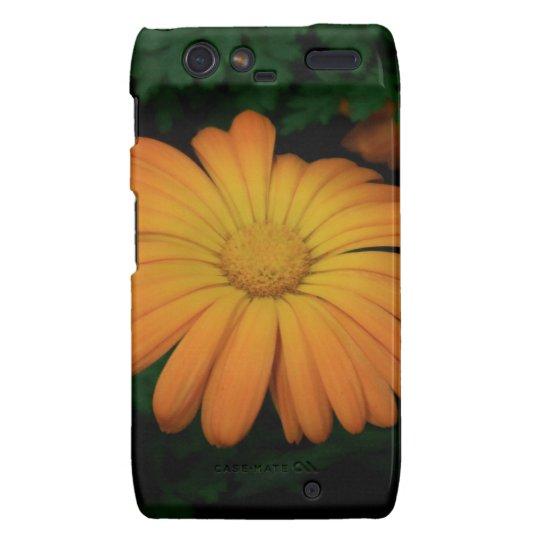 Yellow orange daisy flower droid RAZR cover