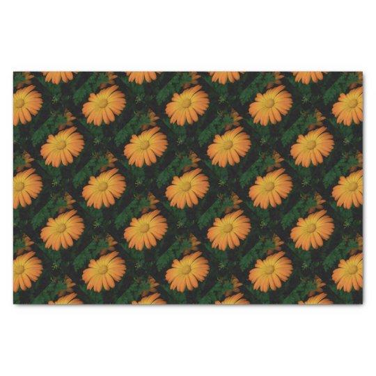 Yellow orange daisy flower tissue paper