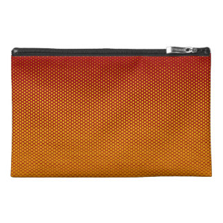 Yellow-Orange dots on ANY color custom accessory Travel Accessory Bag