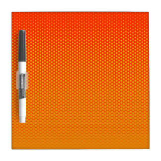 Yellow-Orange dots on ANY color custom board Dry Erase Whiteboards