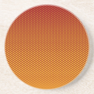 Yellow-Orange dots on ANY color custom coaster