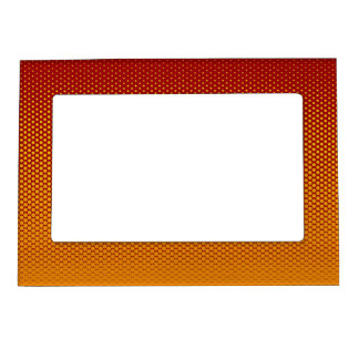 Yellow-Orange dots on ANY color custom frame Photo Frame Magnet
