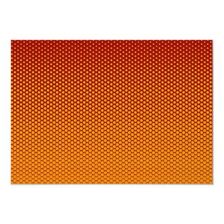 Yellow-Orange dots on ANY color custom invitation 13 Cm X 18 Cm Invitation Card
