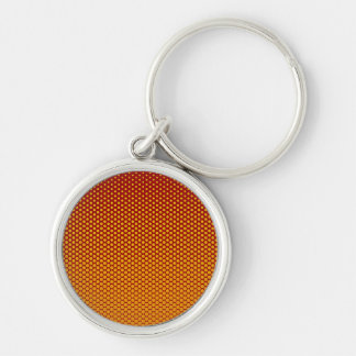 Yellow-Orange dots on ANY color custom key chain