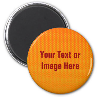 Yellow-Orange dots on ANY color custom magnet