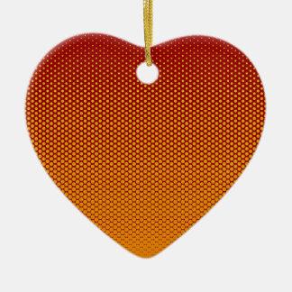 Yellow-Orange dots on ANY color custom ornament