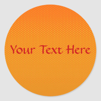 Yellow-Orange dots on ANY color custom stickers