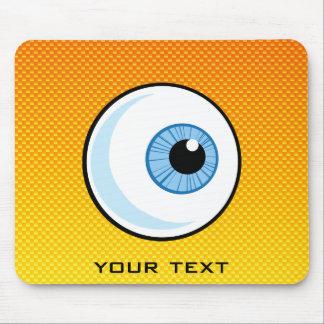 Yellow Orange Eyeball Mouse Pad