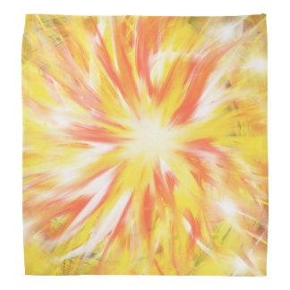 Yellow Orange Flames Fire Star Abstract Art Design Bandana