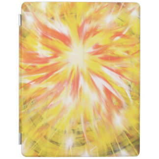Yellow Orange Flames Fire Star Abstract Art Design iPad Cover
