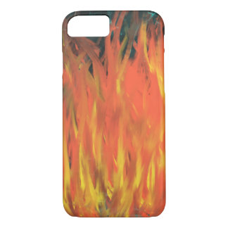 Yellow Orange Flames Lightning Abstract Art Design iPhone 8/7 Case