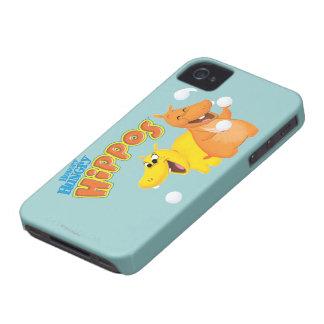 Yellow & Orange Hippo iPhone 4 Case-Mate Cases