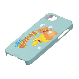 Yellow & Orange Hippo iPhone 5 Cover