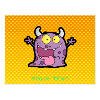 Yellow Orange lil Monster Postcard