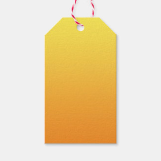 Yellow & Orange Ombre Gift Tags