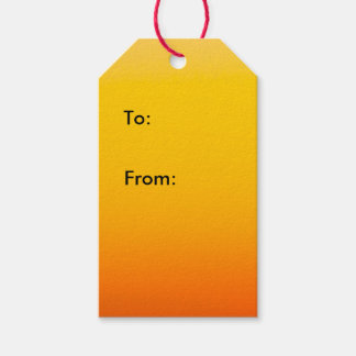 Yellow Orange Ombre Sunset 1 Pack Of Gift Tags