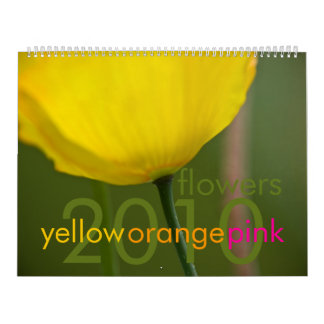 Yellow Orange Pink Flowers 2010 Calendar