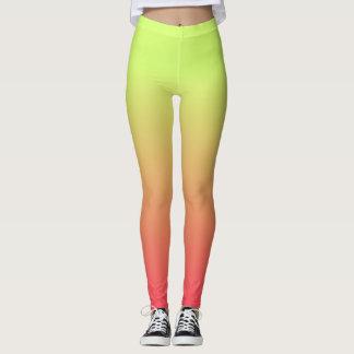 Yellow, Orange, Pink Leggings