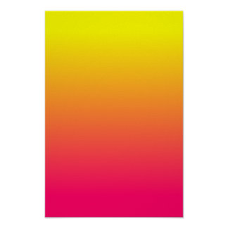Yellow Orange Pink Ombre Poster
