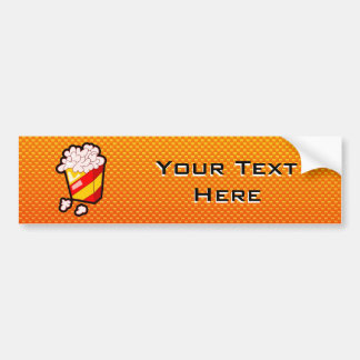 Yellow Orange Popcorn Bumper Sticker