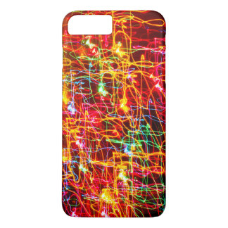 Yellow Orange Red Green Blue Pink Abstract Lights iPhone 7 Plus Case
