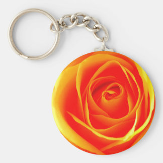 Yellow-Orange Rose Keychain