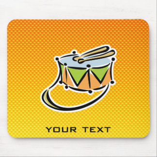 Yellow Orange Snare Drum Mouse Pad