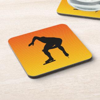 Yellow Orange Speed Skater Drink Coaster