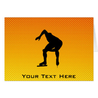 Yellow Orange Speed Skater Greeting Card