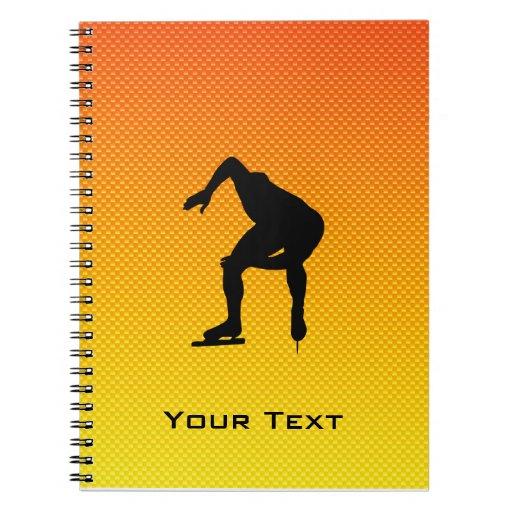 Yellow Orange Speed Skater Journals