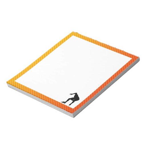 Yellow Orange Speed Skater Note Pad