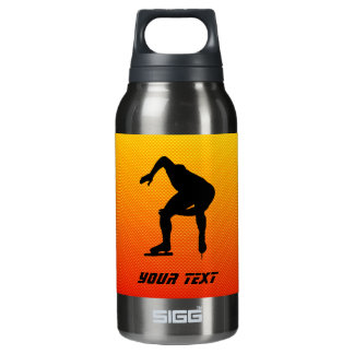 Yellow Orange Speed Skater 10 Oz Insulated SIGG Thermos Water Bottle