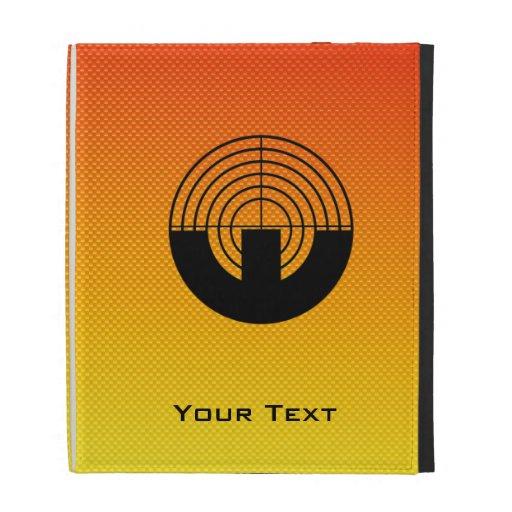 Yellow Orange Sport Shooting iPad Folio Case