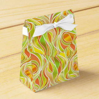 Yellow Orange Stained Glass Favor Box