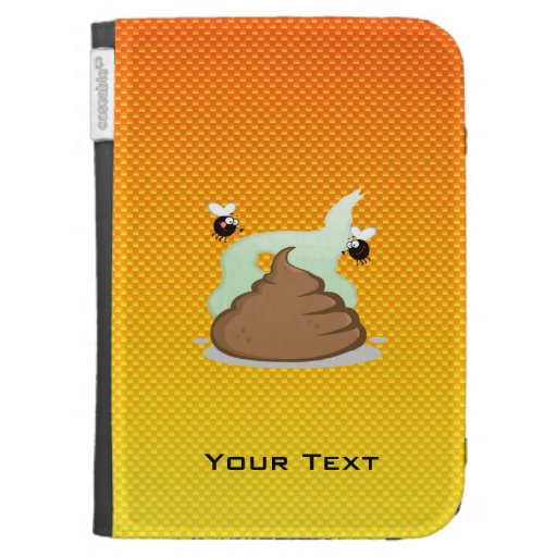 Yellow Orange Stinky Poo Kindle 3 Cover