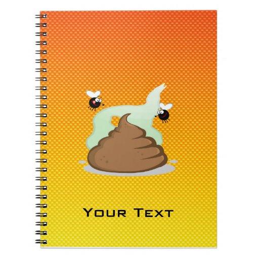 Yellow Orange Stinky Poo Journals