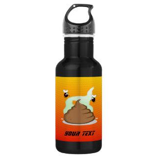 Yellow Orange Stinky Poo 18oz Water Bottle