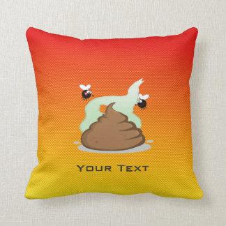 Yellow Orange Stinky Poo Throw Pillow