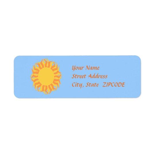Yellow Orange Sun Address Labels