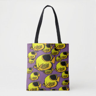 Yellow & Orange Sunfish Tote Bag