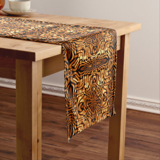 Yellow Orange Taupe Brown Hip Orient Bali Art Medium Table Runner